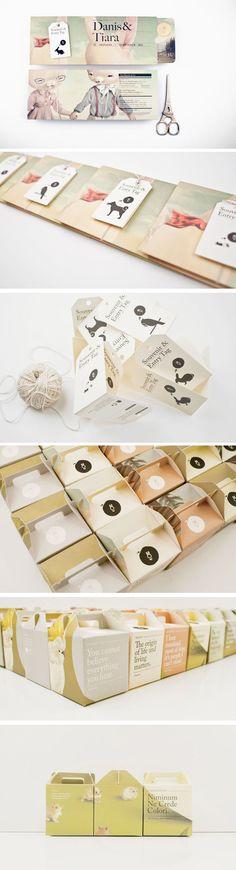 O coelho - convite de casamento e embalagem de bolo - Feito pelo escritório Sciencewerk