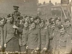 Cameron Highlanders and their Mascot  6th (Service) Battalion was part of the New Army and was formed at Inverness in September 1914.  The battalion moved through Hampshire, first to Aldershot and then Bramshott and later Basingstoke in February 1915.   HMCMS:DPAANJ69