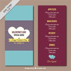 Special retro menu of valentine #Free #Vector  #Vintage #Menu #Heart #Love #Template #Restaurant #Retro #Celebration #Restaurantmenu #Couple #Valentine #Valentinesday #Celebrate #Valentines #Romantic #Menurestaurant #Beautiful #Day #Lovecouple #Special
