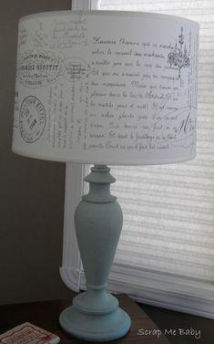 French graffiti lamp