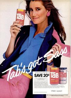 80s TAB ad. I lived on this stuff in college.