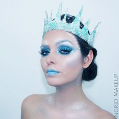 The Ice Queen!!!!! Makeup by the amazing Ingrid Makeup. Photo by Pete Acosta