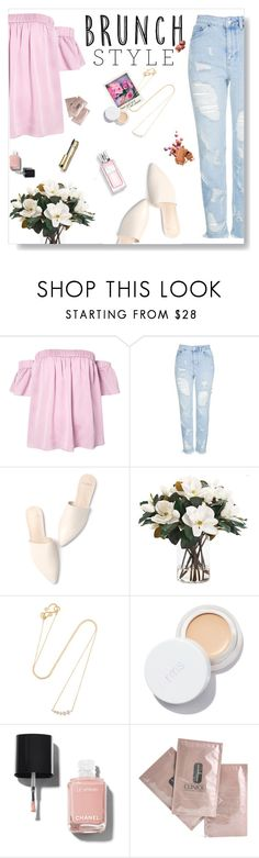 """""""Brunch style."""" by iamthelizardqueen ❤ liked on Polyvore featuring Milly, Topshop, NDI, Sophie Bille Brahe, Christian Dior, rms beauty, Chanel, Clinique and Bobbi Brown Cosmetics"""