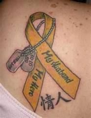 military ribbon ankle tattoo - Google Search