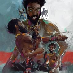 """""""This is America"""" is an anticipated release of Phresh Laundry art by Theoplis. There will be only 100 exclusive watercolor archival prints made. Arte Do Hip Hop, Hip Hop Art, African American Art, African Art, Laundry Art, Rapper Art, Black Love Art, Childish Gambino, Black Artwork"""