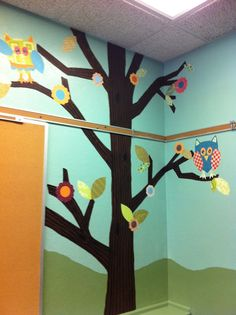 One of four trees with owls in my classroom.