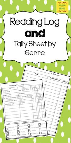 Super reading tool for students and teacher.  Students keep track of every book…