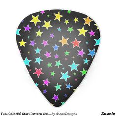 Fun, Colorful Stars Pattern Guitar Pick