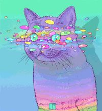 Discover & Share this Phazed GIF with everyone you know. GIPHY is how you search, share, discover, and create GIFs. Art And Illustration, Illustrations, Kunst Inspo, Art Inspo, Psychedelic Art, Crazy Cats, Cool Cats, Trippy, Cat Art