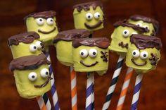 Hugs & CookiesXOXO: FRANKENMARSHMALLOW POPS