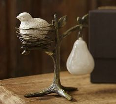 Loved this when they released it a year or two ago and now it's back!  Partridge in a Pear Tree Salt & Pepper Shakers #potterybarn