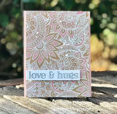 I loved this Simon Says Stamp Ornate Background stamp the first time I saw it. For my project, I stamped it in Versamark ink onto Kraft card stock then heat embossed in White Stampin' Embossing Powder. Then it was selectively colored with Polychromos colored pencils. I CASE'd Yana Smakula for this subtle coloring. The sentiment is from Simon Says Stamp's Big Greeting 1. It was stamped and heat embossed in Black Embossing Powder. Then I… Continue reading