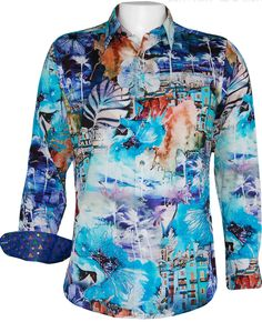 Robert Graham Mens Miles Long Sleeve Slim Fit Shirt