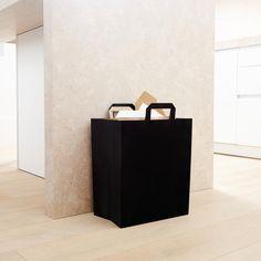 Modern Recycling Bin Set in Onyx