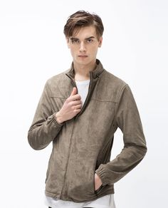 ZARA - MAN - PERFORATED FAUX SUEDE JACKET