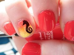 cute beach themed nail designs   Another beach theme by Kelsie's Nail Files. Very Cute!