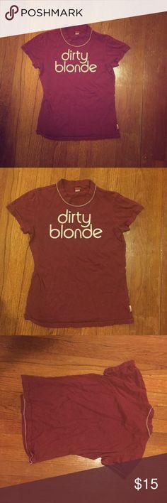 "Hollister burgundy tee shirt ""dirty blonde"" Tee shirt hollister size medium burgundy color Hollister Tops Tees - Short Sleeve"