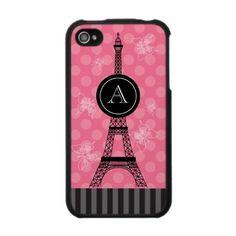 Monogram Eiffel Tower Speck Case by marlenedesigner