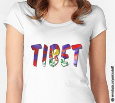 Tibet Word With Flag Texture Women's Fitted Scoop T-Shirts http://www.redbubble.com/people/markuk97/works/23070169-tibet-word-with-flag-texture?asc=t&p=womens-fitted-scoop via @redbubble