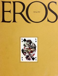 EROS magazine numéro de printemps 1962 (avec l'autorisation de The Herb Lubalin Center of Design and Typography)