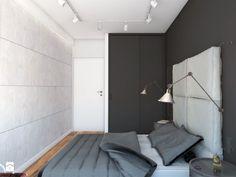 50 m2 na Artystycznym Żoliborzu - Mała sypialnia małżeńska, styl industrialny - zdjęcie od IdeaSpace