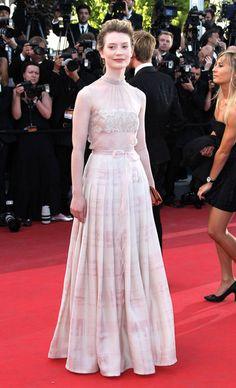 Mia Wasikowska Photos Photos: Premiere of 'The Tree of Life' at the Palais des Festivals Mia Wasikowska, Palais Des Festivals, Celebs, Celebrities, Cannes Film Festival, Classy Dress, Face And Body, Actors & Actresses, Designer Dresses