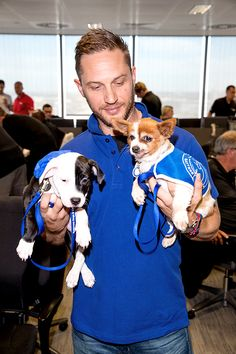 Tom Hardy arrives for BGC Annual Global Charity Day at Canary Wharf on September 12