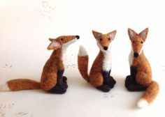Coriandr / jennymade / Kit-Needle Felt Fox Kit..