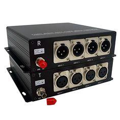 1 Core or 500 Meters MMF, 2 Ch 2 Way XLR Balanced Audio to Fiber Optic Converter Transwan 2 Ch Bi-Directional Balanced Audio Over Fiber Optical Extender to 20 Km Single-Mode Fiber
