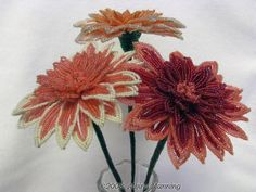 Free French Beaded Flowers Instructions | Artistic Life