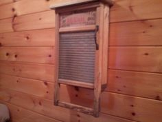 A medicine cabinet made from an old washboard. Thanks to Matt at Born in a Barn in Ailsa Craig, Ontario