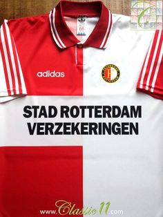 Relive Feyenoord s 1994 1995 season with this vintage Adidas home football  shirt. 568cee1e6