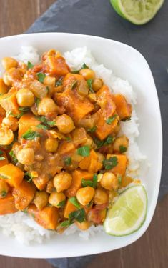 Coconut Curry Sweet Potato Chickpea Stew