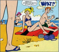 Sexy Ladies of Archie Comics — Via the ever entertaining Dirty River Archie Comics Veronica, Archie Comics Betty, Archie Comics Characters, Archie Comic Books, Gay Comics, Funny Comics, Funny Toons, Archie Comics Riverdale, Funny Cartoon Pictures