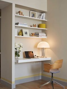 Home Office Design Ideas, Remodels & Photos Work Desk Decor, Home Office Decor, Home Decor, Office Table, Office Ideas, Office Interior Design, Office Interiors, Office Designs, Ikea Interior