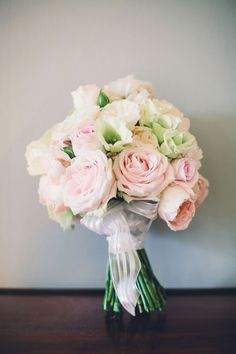 Beautiful bouquet of pastel roses