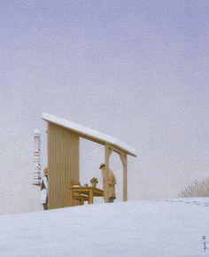 quint buchholz(1957- ), two men in snow, 1993 http://www.quintbuchholz.de/en/pictures/all-pictures.html