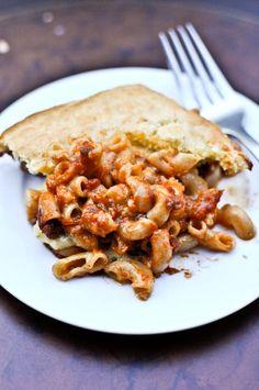 chili cornbread pasta bake