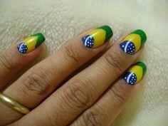 As mais lindas Unhas Decoradas Copa 2014! Confira modelos de unhas do Brasil, unhas decoradas com a bandeidinhas e muito mais!