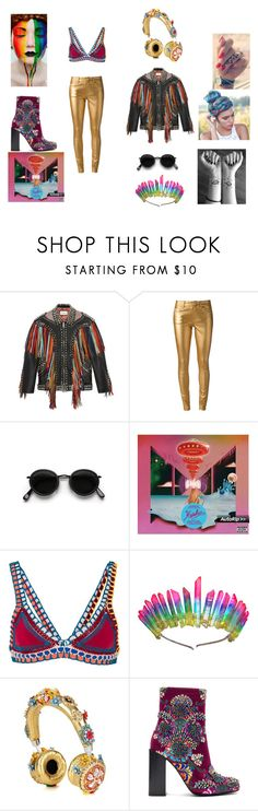 """Rainbow"" by randomfashionsxoxo ❤ liked on Polyvore featuring Gucci, Yves Saint Laurent, Acne Studios, kiini, Dolce&Gabbana and Jeffrey Campbell"