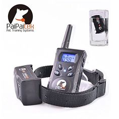 PaiPaitek Rechargeable 500 Yard Remote 1 Dog Blue Screen Waterproof 100 Level Vibrate Shake Pet Dog Training Collar Bark Stop Collar Trainer E-Collar Pet Dog No Bark Collar Bark Stopper PD 520 ** Remarkable product available now. : Dog Training and Behavior Aids