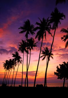 Sunset in Lovina Beach, Bali, Indonesia