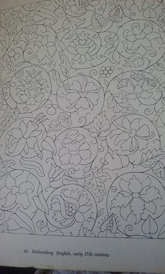 floral embroidery inspiration page Indian Embroidery Designs, Hand Embroidery Design Patterns, Hand Embroidery Flowers, Jacobean Embroidery, Blackwork Embroidery, Embroidery Motifs, Kalamkari Designs, Rug Hooking Designs, Kalamkari Painting