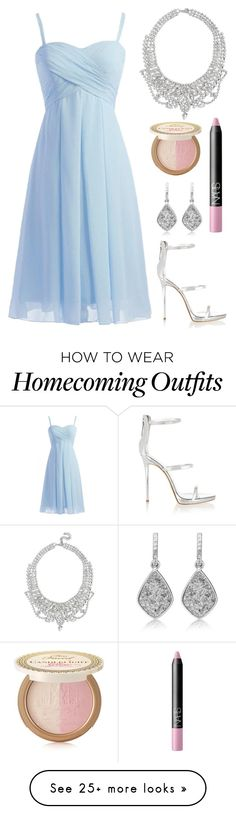 """""""Prom"""" by pumpkinspice-15 on Polyvore featuring Giuseppe Zanotti, GUESS, NARS Cosmetics and Too Faced Cosmetics"""