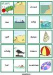 woordkaarten strand