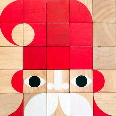 interchangable wooden block portraits by miller goodman - designboom.com
