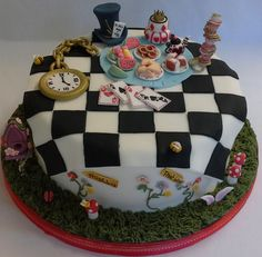 Alice in Wonderland Mad Hatter's tea party cake by A Taste of Wonderland. Afternoon Tea. Tea Party.