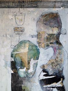 carola kastman,collage Distortion Art, Surrealist Collage, Portrait Art, Art Techniques, Figurative Art, Creative Inspiration, Modern Art, Street Art, Abstract Art