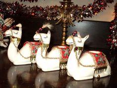 3 Vitg Christmas HOLT HOWARD porcelain CAMELS -Japan