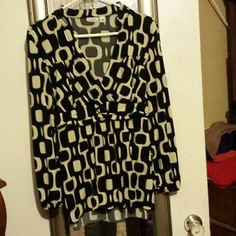 Cato xl blouse Great flowy material excellent used condition micro holes shown in pics not noticeable when warn Cato Tops Blouses